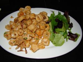 Fried Calamari by stephuhnoids