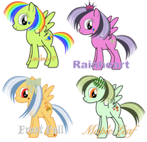 ~Hair Pony Adopts~ by StarCatcherZ
