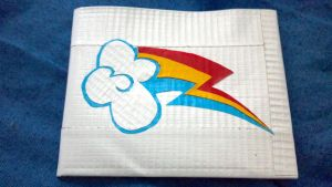 Rainbow Dash Duct Tape Wallet by AbyssOfEnds