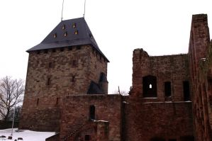 The Keep of Burg Nideggen by Tricia-Danby