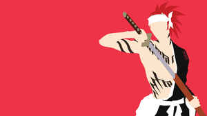 Abarai Renji from Bleach | Minimalist by matsumayu