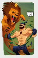 Johnny Canuck vs Lion King by Toyebot