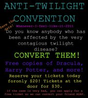 Anit-Twilight Convention Flyer by Blasphamee