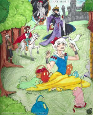 Princess Toshi and the Seven Rainbow Glipus by Alrathi