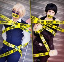 ShizAya caught DRRR! by LauzLanille