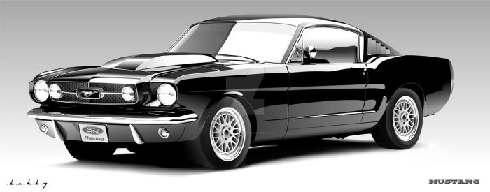 Ford Mustang Vector Portrait by Bobby-Sandhu