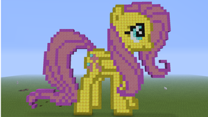 minecraft Fluttershy by aguantegrimtales
