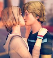 Life is Strange - Max and Warren kiss by ICYCROFT