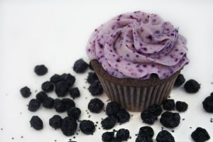 Organic Blueberry Cupcake by FightTheAssimilation