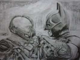 Bane Vs Batman by lolbenjo