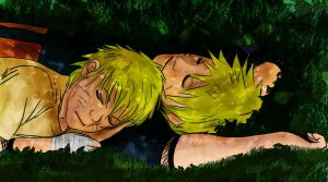 Naruto + Takeo - Rest with Dad by shamylicious
