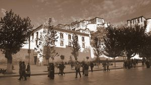 Potala in sepia by Suppi-lu-liuma
