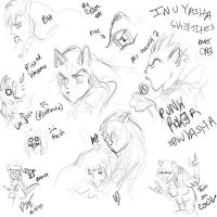 Inuyasha sketches by TheOppressor