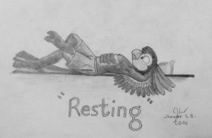 Resting by SammfeatBlueheart