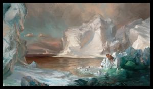 The Icebergs Frederic Edwin Church Study by AnthonyAvon