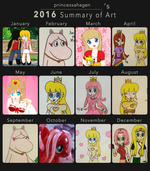 My 2016 Summary of Art by princessahagen