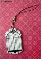 Birdcage Charm by littlepaperforest