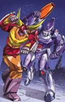 Transformers: Rodimus Prime Vs Galvatron by ZeroMayhem