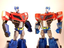 Animated optimus comparison by scoobsterinc