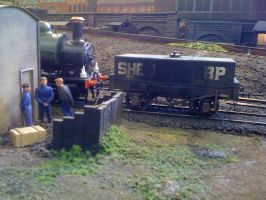 GWR 0-6-0ST loco shunting by YanamationPictures