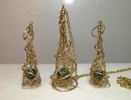 Royal Beauty Set by blackcurrantjewelry