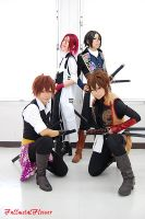 hakuouki:Four people1 by fullmetalflower