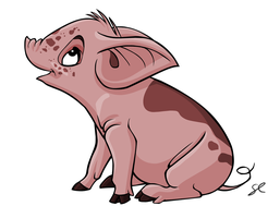 FlashPotatoes - Pig by lilowlaroo