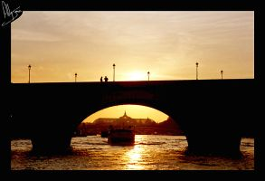 Paris Sunset 1 by Bongomancan