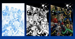nightwing cover stages by StevenHoward