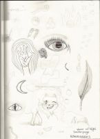 My House of Night Doodle pages. ^ ^ by Horsey-Luver450