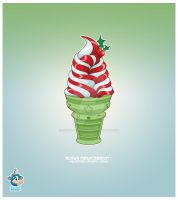 Kawaii Peppermint Icecream 85k by KawaiiUniverseStudio