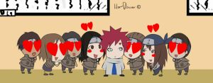 Gaara and fans by lila-flower
