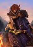 Tyra and Marthin Commission by jodeee
