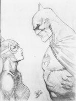 Batman And Catwoman Jim Lee Style by dushans