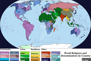 Rlgs. Denominations by Country 2011 by Iori-Komei