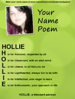 My Name Poem by HollieBiscuit