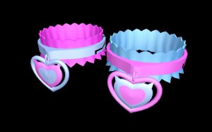 MMD meaw collars by Ina-C