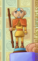 Avatar Advent Calendar: Day 3: Aang Nutcracker by Mattierial