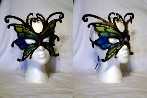 Leather Butterfly Mask by MirabellaTook