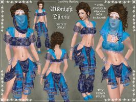 Midnight Djinnie Outfit by Elvina-Ewing