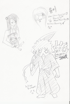 Bleach-related sketches :D by METH-ane