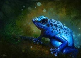 Blue Frog by aeryael