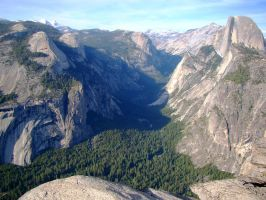 Half Dome and the Tenaya Gorge by Geotripper