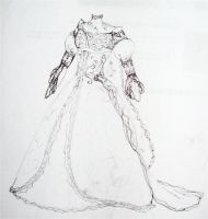 Wedding Dress Design by kamiiyu