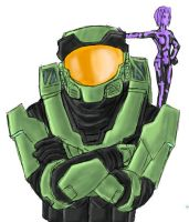Pchat - Master Chief + Cortana by GuyverC