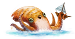 Day 588. Sketch Dailies Challenge - Kraken by Cryptid-Creations