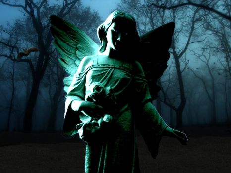 enchanted forest of dark angels by Willow-Draven