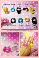 Kawaii Sailor Moon Rings by SentimentalDolliez