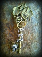 Skull-Keeper Fantasy Key by ArtByStarlaMoore