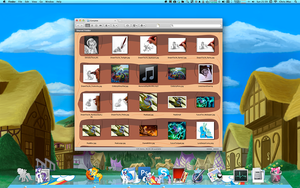 Pony dock and Finder BG_Preview by Tsitra360